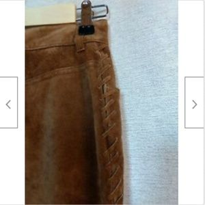 Jones New York Pants - Jones New York brown suede flat front pants size 4